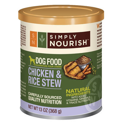 Simply Nourish, Dog Food - Natural, Chicken and Rice Stew size: 13 Oz