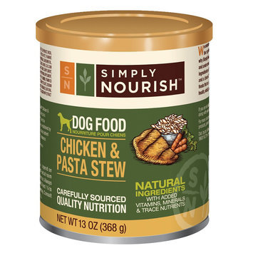 Simply Nourish, Dog Food - Natural, Chicken and Pasta Stew size: 13 Oz