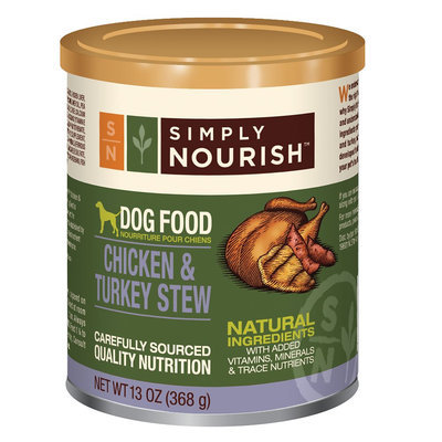 Simply Nourish, Dog Food - Natural, Chicken and Turkey Stew size: 13 Oz