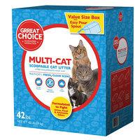 Grreat Choice® Mulit-Cat Cat Litter - Scoopable, Fresh Scent size: 42 Lb