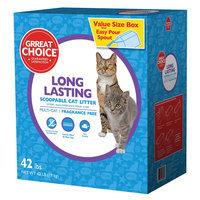 Grreat Choice® Long Lasting Cat Litter - Scoopable, Multi-Cat, Fragrance Free size: 42 Lb