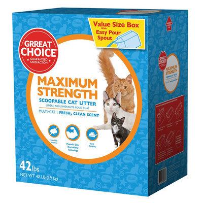 Grreat Choice® Maximun Strength Cat Litter - Scoopable, Muliti-Cat, Fresh Scent size: 42 Lb