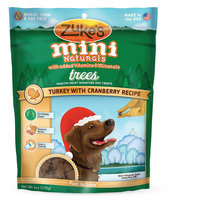 Zukes Zuke's® Mini Naturals, Trees Dog Treat - Natural, Turkey and Cranberry size: 6 Oz
