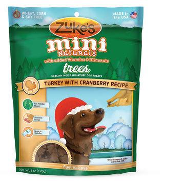 Zukes Zuke's® Mini Naturals, Trees Dog Treat - Natural, Turkey and Cranberry size: 6 Oz