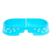 Grreat Choice® Double Diner Dog Bowl Blue