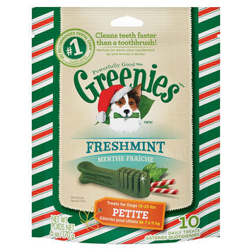Greenies® Seasonal Petite Dental Dog Treat - Freshmint size: 10 Count