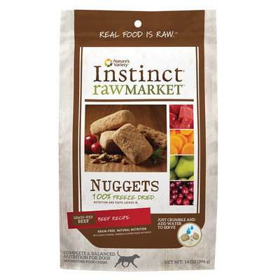 Instinct Raw Market Nuggets Beef Recipe Freeze Dried Food for Dogs