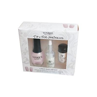 Venique Tip to Toe Sprinkles 3 Piece Nail Art Kit - White