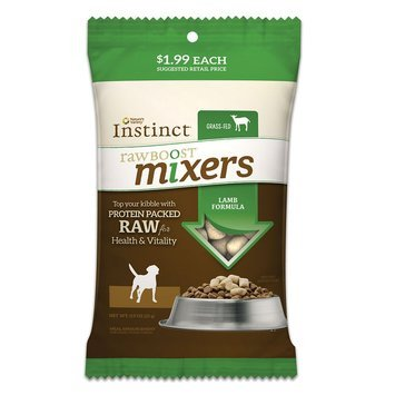 Natures Variety Instinct Nature's Variety® Instinct® Raw Boost Mixers Dog Food Topper - Grain Free, Freeze Dried Raw, Lamb