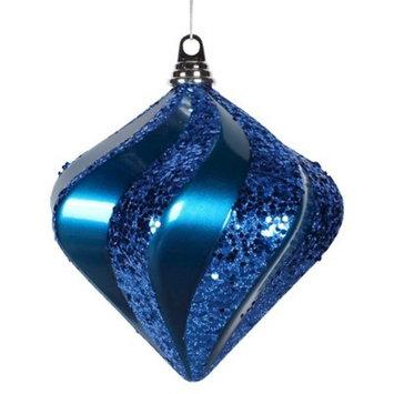 8'' Sea Blue Candy Glit Swirl Diamond