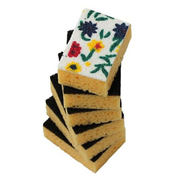 Okleen - Two Types of Multi-Use Scrub Sponges for Household Cleaning. Size 4.3x2.8x1.4 inch [9]