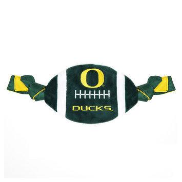 Pets First Oregon Ducks NFL Flattie Crinkle Football Toy