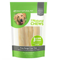 Only Natural Pet All Natural Chews Free Range Cow Tails Dog Treat size: 3 Count