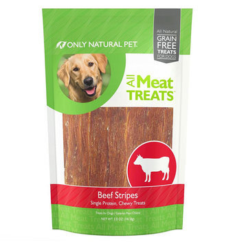 Only Natural Pet All Meat Treats Dog Treat - Beef Stripes size: 5 Oz