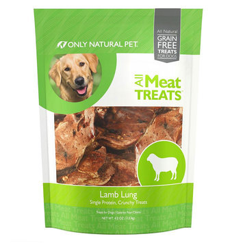 Only Natural Pet All Meat Treats Lamb Lung Dog Treat - Natural, Grain Free size: 4 Oz
