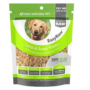 Only Natural Pet EasyRaw Dog Food - Raw, Grain Free, Dehydrated, Lamb and Sweet Potato size: 4 Oz