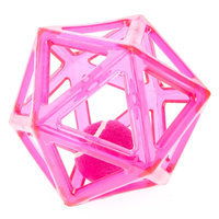 Top Paw® Geometric Tennis Ball Dog Toy, Pink