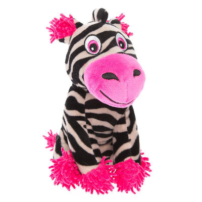Top Paw® Valentine's Zebra Plush Dog Toy