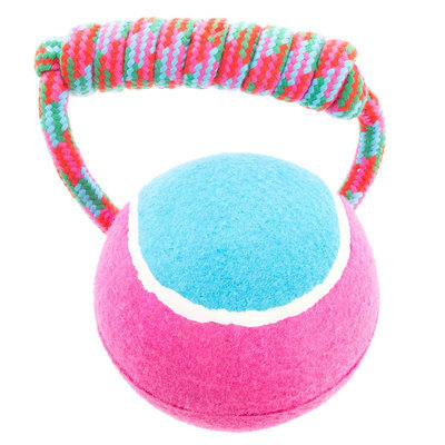 Top Paw® Rope Handle w/Tennis Ball Dog Toy