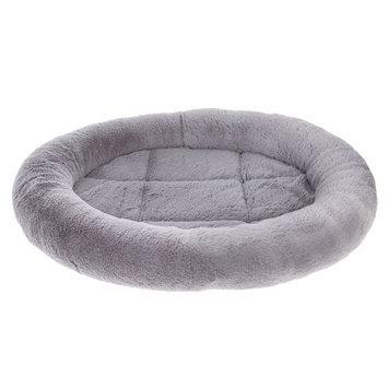 Grreat Choice® Bolster Dog Bed, Gray