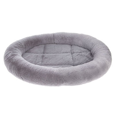 Grreat Choice® Bolster Dog Bed, Gray