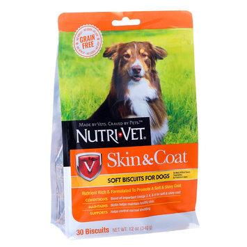 Nutri-Vet Skin and Coat Dog Treat - Natural, Grain Free size: 12 Oz