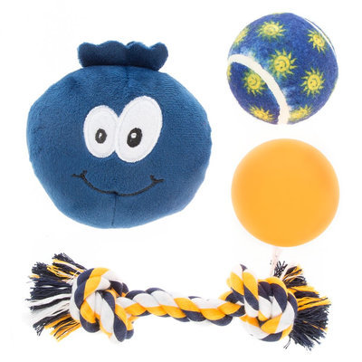Top Paw® Blueberry 4-Pack Dog Toy