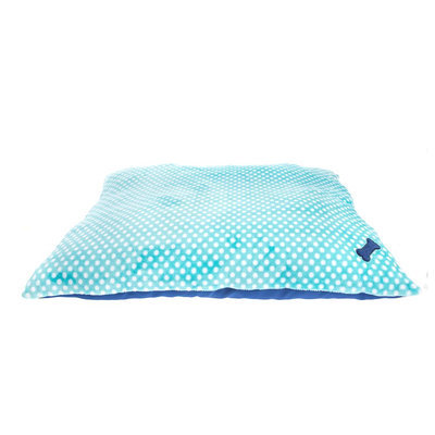 Grreat Choice® Dot Pillow Dog Bed, Turquoise