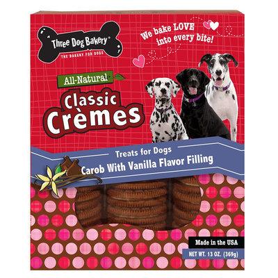Three Dog Bakery Classic Cremes Dog Treat - Natural, Carob with Vanilla size: 13 Oz