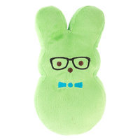Peeps® Bunny with Glasses Plush Dog Toy, Green