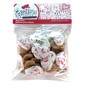 Molly's Barkery Valentine's Heart Cookies Dog Treat - Apple Cinnamon