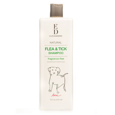 ED Ellen DeGeneres Natural Flea and Tick Dog Shampoo