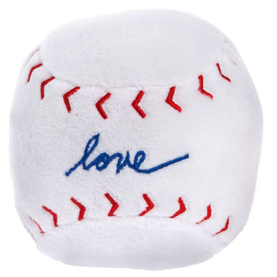 ED Ellen DeGeneres Love Baseball Dog Toy - Plush