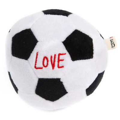 ED Ellen DeGeneres Love Soccer Ball Dog Toy - Plush