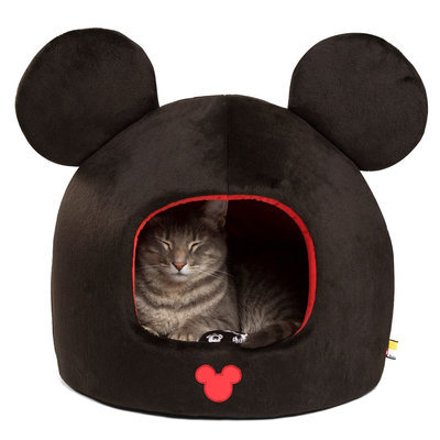 Disney® Mickey Mouse Pet Bed Dome, Red & Black