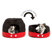 Disney® Mickey Mouse 2-in-1 Honeycomb Pet Cuddler, Red & Black