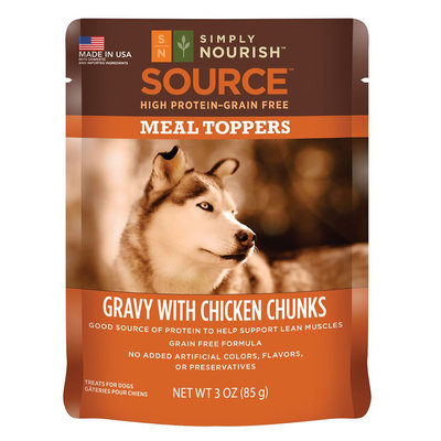 Simply Nourish, Source Dog Food Meal Topper - Natural, Grain Free, Gravy with Chicken size: 3 Oz