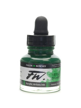 Daler-rowney FW Artists' Ink emerald green, 1 oz. [pack of 3]