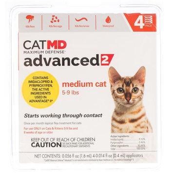 Cat MD, Maximum Defense 5-9 lbs Advance 2 Flea Treatment size: 4 Count