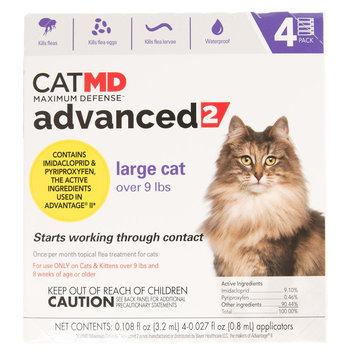 Cat MD, Maximum Defense over 9 lbs Advance 2 Flea Treatment size: 4 Count