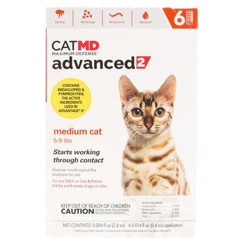 Cat MD, Maximum Defense 5-9 lbs Advance 2 Flea Treatment size: 6 Count