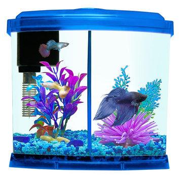 Top Fin® 1 Gallon Liquidy Split Aquarium, Blue