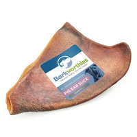 Barkworthies Pig Ear Slice Dog Chew - Natural size: 1 Count
