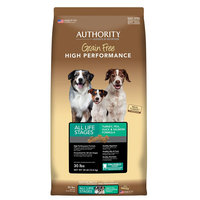 Authority Grain Free High Performance Dog Food - Turkey, Pea, Duck and Salmon size: 30 Lb