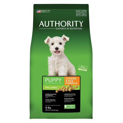 Authority Small Breed Puppy Food - Chicken and Rice size: 8 Lb, CO-7190