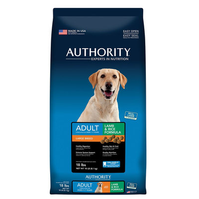 Authority Large Breed Adult Dog Food - Lamb and Rice size: 18 Lb