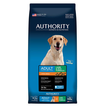 Authority Large Breed Adult Dog Food - Lamb and Rice size: 34 Lb