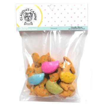 Claudia's Cuisine Claudia's Canine Bakery Easter Duck Cookies Dog Treat - Vanilla size: 4.5 Oz
