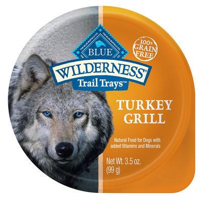 Blue Buffalo Blue Wilderness® Trail Trays Small Dog Food - Natural, Grain Free, Turkey Grill size: 3.5 Oz