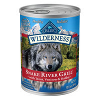 Blue Buffalo Blue Wilderness® Snake River Grill Dog Food - Natural, Grain Free, Trout, Venison and Rabbit size: 12.5 Oz